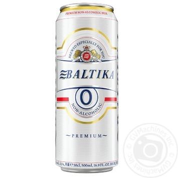 Пиво Балтика премиум светлое безалкогольное 500мл