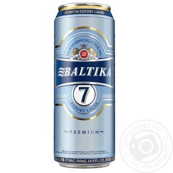 Baltika №7 light beer 5,4% 0,5l - buy, prices for Furshet - image 1