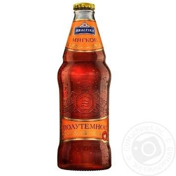 Пиво Балтика Мягкое полутемное пастеризованное 4,4% 0,44л