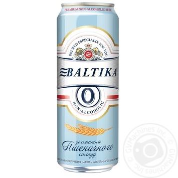 Пиво Балтика №0 безалкогольное нефильтрованое ж/б 0,5% 0,5л