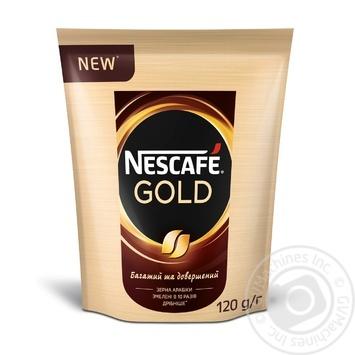 Кофе Nescafe Gold растворимый 120г - купить, цены на Novus - фото 1
