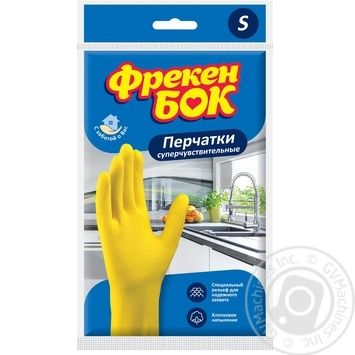 Rubber gloves Freken bok size S - buy, prices for Furshet - image 1