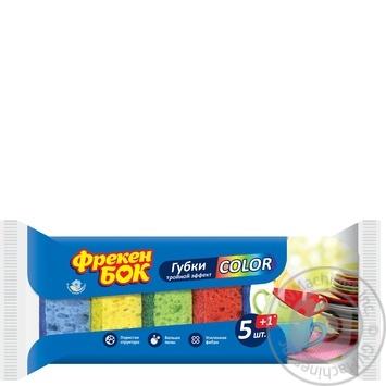 Губки кухонные Фрекен Бок Сolor +1шт бесплатно 5+1шт/уп - купить, цены на Novus - фото 1