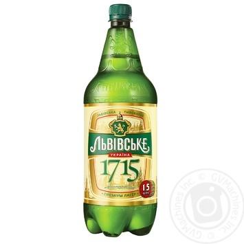 Lvivske 1715 pasteurized light beer 4.7% 1.5l - buy, prices for Novus - image 1
