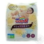 Підгузки GOO.N SUPER PREMIUM MARSHMALLOW для дітей 4-8 кг розмір S на липучках унісекс 58 шт