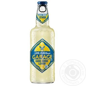 Пиво Seth & Riley's GARAGE Hard Lemon светлое специальное пастеризованное со вкусом лимона 4.6% 0.44л