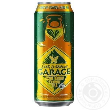 Пиво Seth & Riley's GARAGE Hard Lemon Tea со вкусом лимонного чая светлое  пастеризованное 4.6% 0,5л