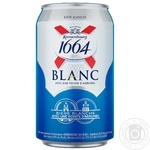 Kronenbourg 1664 Blanc light non-filtered special pasteurized beer can 4.8% 0.33l