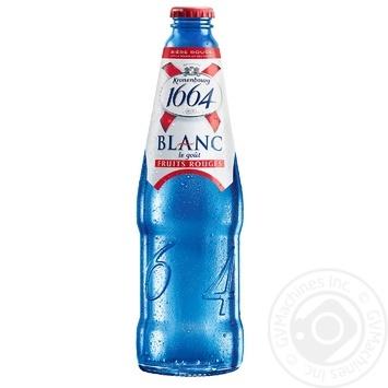 Пиво Kronenbourg 1664 Blanc le gout Fruits Rouges специальное пастеризованное 4,5% 0,46л