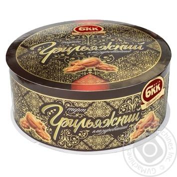 Торт БКК Грильяжный глазурированный 450г - купить, цены на Novus - фото 1