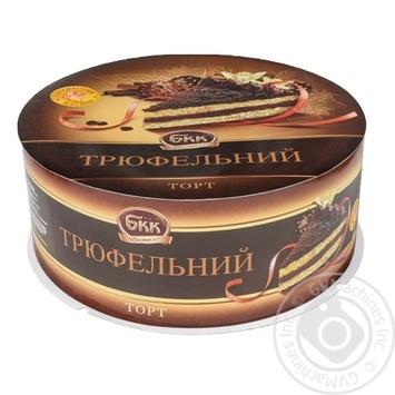 Торт БКК Трюфельный 850г - купить, цены на Ашан - фото 1