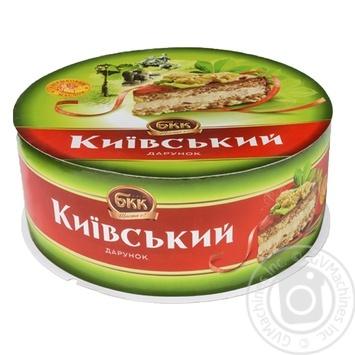 Торт БКК Киевский воздушно-арахисовый 1кг картонная коробка Украина - купить, цены на Восторг - фото 3