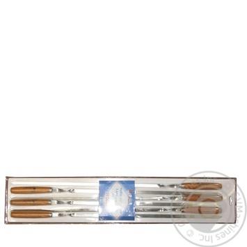 Набір шампурів Time Eco 6шт*60см - купити, ціни на CітіМаркет - фото 1