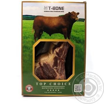 Стейк говяжий T-Bone Top Choice Ковбой охлажденный - купить, цены на Novus - фото 1