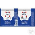Пиво Kronenbourg 1664 Blanc светлое нефильтрованное 4шт 4,8% 0,33л - купить, цены на Novus - фото 2