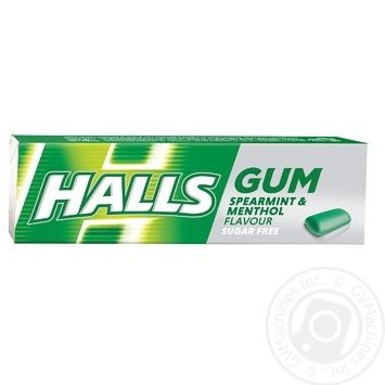 Halls chewing gum with mint and menthol flavor 14g - buy, prices for CityMarket - photo 1