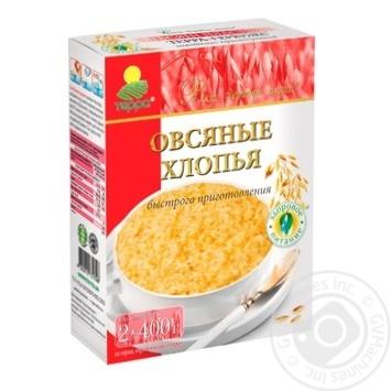 Хлопья овсяные Терра Терра-Геркулес быстрого приготовления 800г Украина - купить, цены на Восторг - фото 1