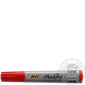 Маркер BIC перманентный красный 2000 - купить, цены на Ашан - фото 1