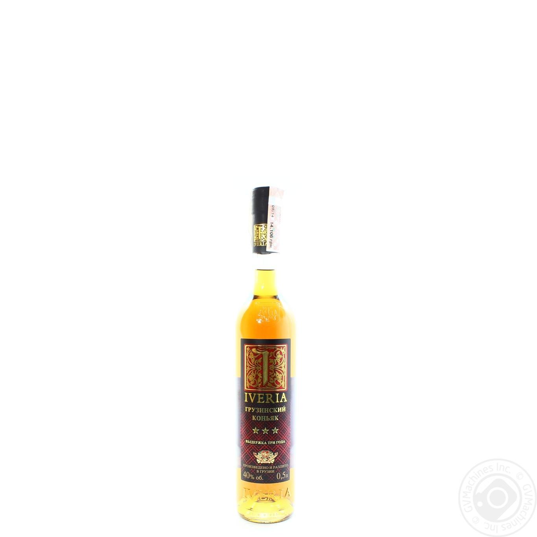 Коньяк Iveria 3* 40% 0.5л