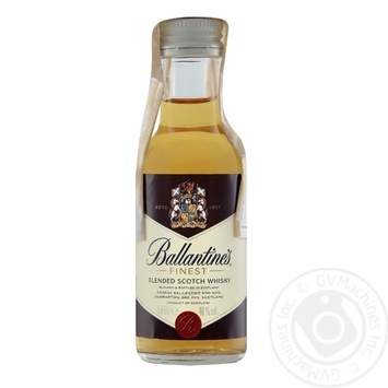 Виски Ballantines Finest 40% 0,05л - купить, цены на Ашан - фото 2