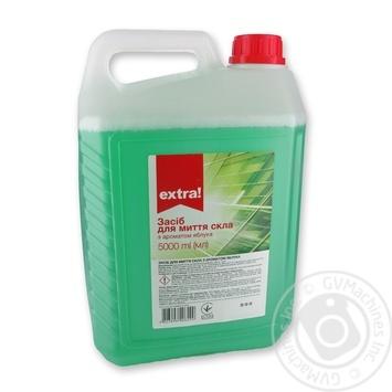 Средство для мытья стекол Extra! с ароматом яблока 5л