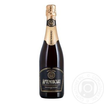 Вино ігристе Артемівське чорна етикетка витримане біле напівсолодке 13.5% 0,75л - купити, ціни на Novus - фото 1