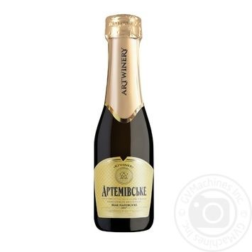 Artwinery Artemivsʹke Sparkling wine white semi-dry 13.5% 0,2l - buy, prices for Novus - image 1