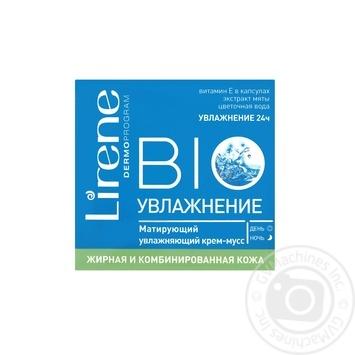 Крем BIO Зволоження для жирної та комбінованої шкіри, Lirene, 50 мл