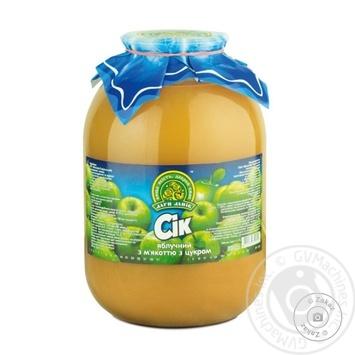 Сік Дари ланів яблучний з м'якоттю з цукром стерилізований скляна банка 3000мл Україна