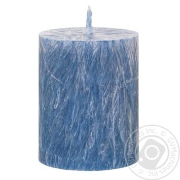 Свічка воскова циліндр блакитний Candlesbio WP10 55/70 - купить, цены на Novus - фото 1