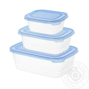 Rotho Sunshine Freezer Containers Set 0,5l, 1l и 1,9l 3pcs - buy, prices for CityMarket - photo 1