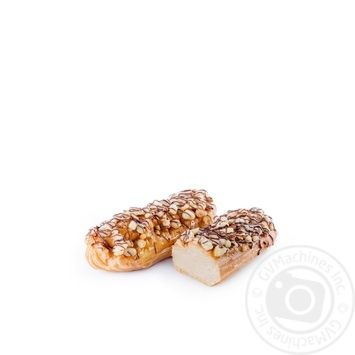 Тістечко Еклер з карамельним кремом,горіхами,ваг - купить, цены на Novus - фото 2