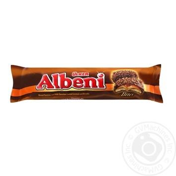 Печенье Ulker Albeni с карамелью и нугой в молочном шоколаде с крошками печенья 72г