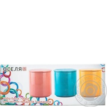 Oselya Set of Cans for Bulk Products 3pcs 700ml - buy, prices for MegaMarket - photo 2