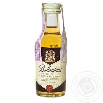 Виски Ballantines Finest 40% 0,05л - купить, цены на СитиМаркет - фото 1