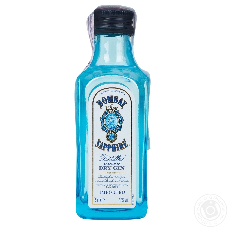 Джин Bombay Sapphire 47% 50мл
