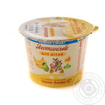 Паста творожная Яготинське для детей Груша-банан 4,2% 100г