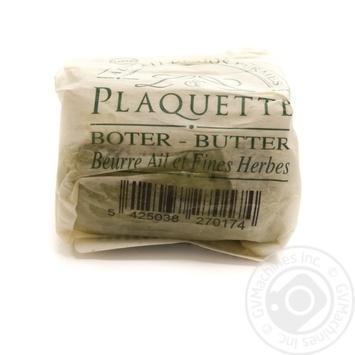 Масло Plaquette сливочное с чесноком и травами 82,5% 100г