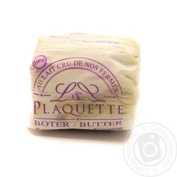 Масло 82,5% вершкове з цибулею шалот та естрагоном Plaquette 100гр