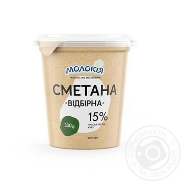 Molokiya Select Thick Sour Cream 15% 330g - buy, prices for MegaMarket - image 1
