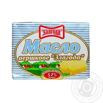Масло Злагода сливочное пониженной жирности 57% 180г