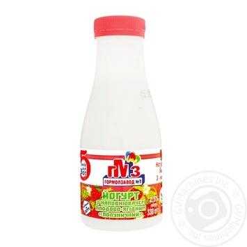 Йогурт Гормолзавод №1 Клубничный 2,5% 330г