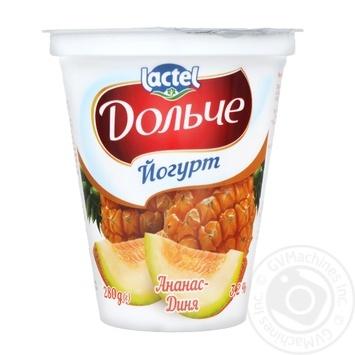 Скидка на Йогурт Lactel Дольче Ананас-Дыня 3,2% 280г