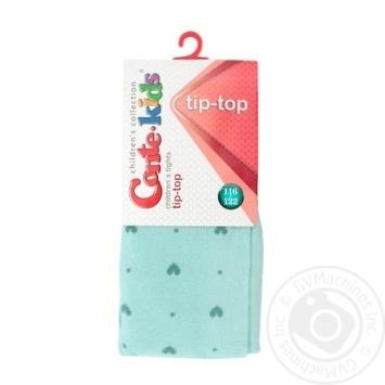 Колготы Conte-kids Tip-Top детские хлопковые бледно-бирюзовые 116-122р