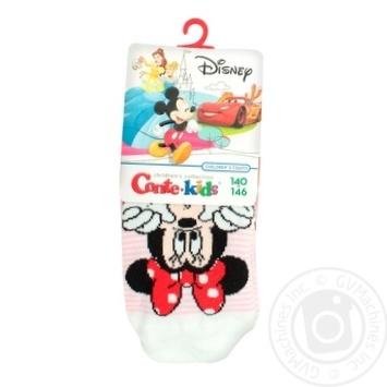 Колготи Conte-kids Disney дитячі світло-рожеві 140-146р