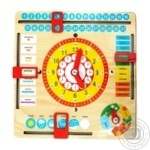 Гра розвиваюча годинник та календар Master wood