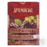 Вино Артемовское красное полусладкое 10-13.5% 3000мл Украина