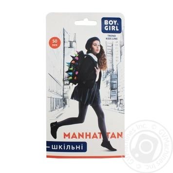 Колготки дитячі Boy&Girl шкільні manhattan 50 розмір 152-158 brown