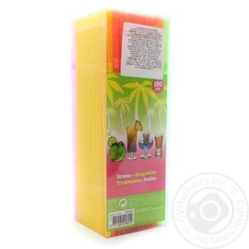 Straws for drinks 200pcs 21cm - buy, prices for Novus - image 1
