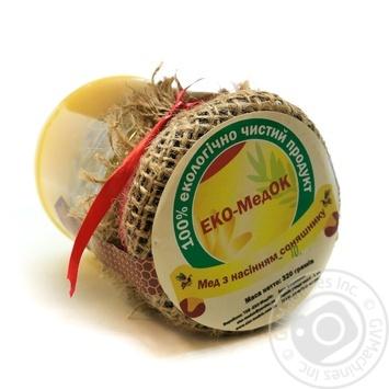 Мед ЭКО-МедОК с семечкой подсолнуха 320г - купить, цены на Novus - фото 1